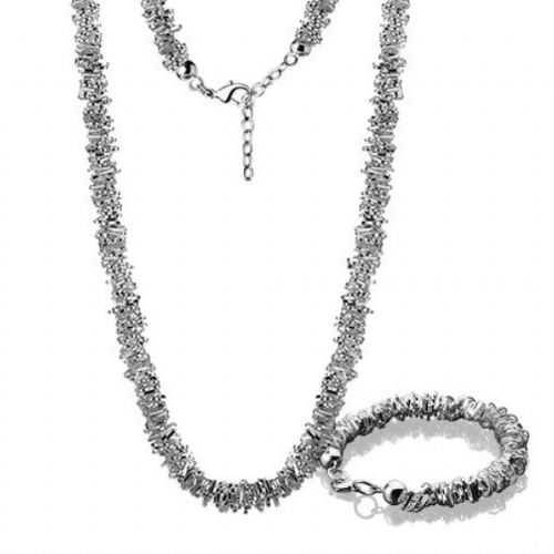 Newbridge Silverware Beaded Heart Necklace & Bracelet Set